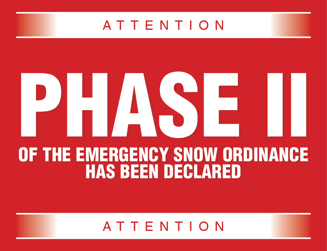 Phase II of Emergency Snow Ordinance Declared