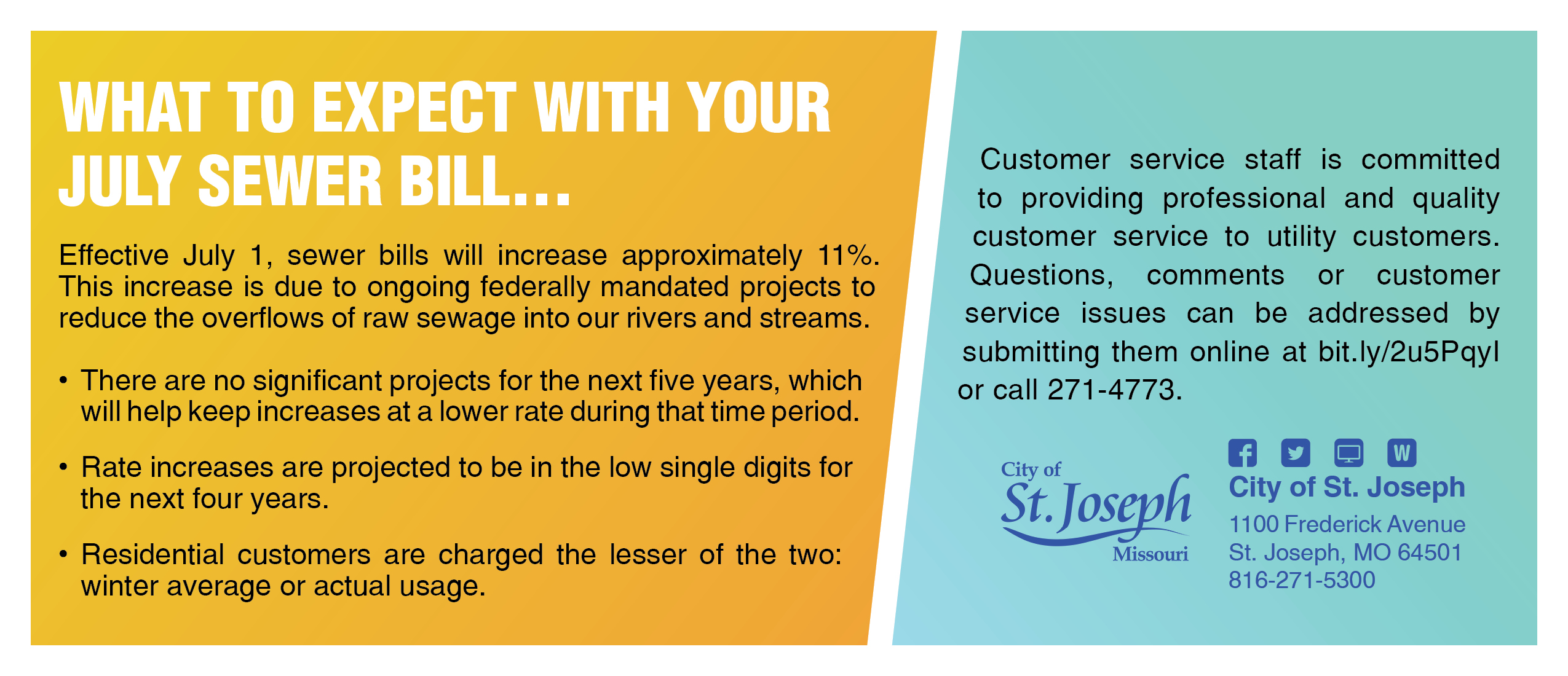 Sewer Rate Increase