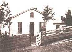 Photo of Jesse James home at its original site