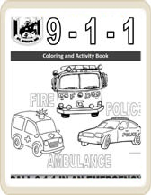 911 for kids coloring book